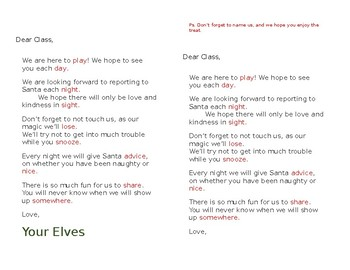 Elf Welcome Letter