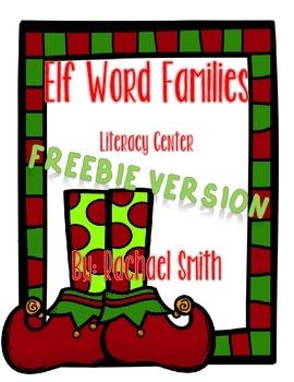 Elf Word Families Freebie