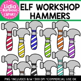 Elf Workshop Hammers Clipart {Lidia Barbosa Clipart}