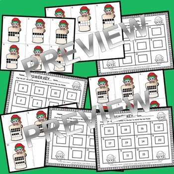 Elf Write the Room CVC Words and Ten Frames 1-20