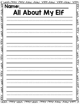 Elf Writing Build an Elf Fun Writing Prompts