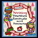 Elves Writing Fractions Decimals and Percents
