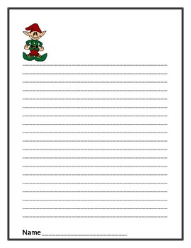 Elf Writing Paper