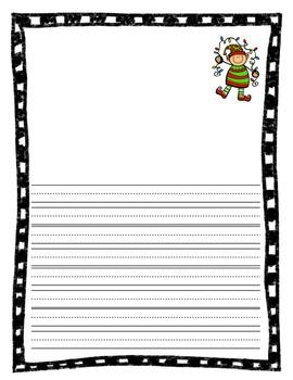 Elf Writing Paper (Freebie)