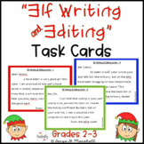 Elf Writing Task Cards | Christmas Writing Activity | December Elf Writing Cards