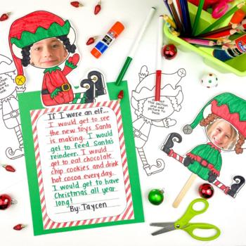 Elf Yourself Holiday Activity | Christmas Writing Center | Holiday Fun
