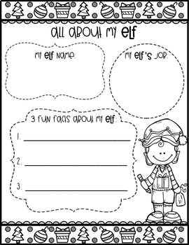 Elf Yourself: Christmas Elf Glyph Activity
