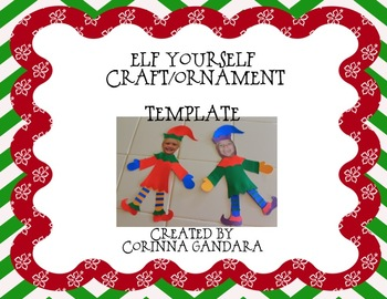 elf yourself craft ornament by surfin through second tpt