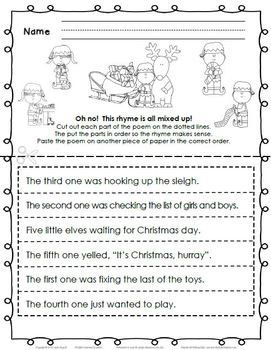 Christmas Reading and Writing Activities:  Elf-in Fest! for 1st or 2nd