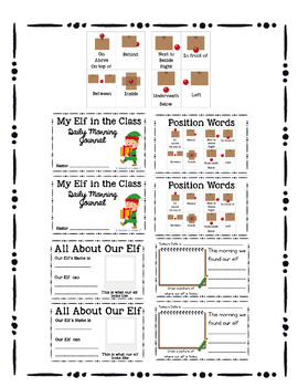 Elf in my Classroom/Shelf Daily Journal