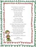 Elf in the Classroom Arrival Letter - No mention of Christmas or Santa!