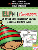 Elf in the Classroom: NO PREP Holiday Problem Solving & Brain Puzzles for 4-8