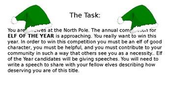 Elf of the Year- Persuasive Writing