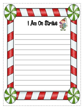Elf on Strike! Christmas Writing Lessons for 7 Days