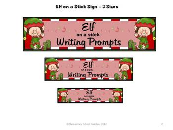 Elf on a Stick - December Writing Prompts and Stationary