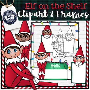 Elf on the Classroom Shelf Clipart and Frames