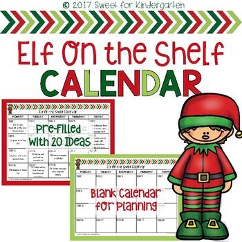 Elf on the Shelf Calendar FREEBIE