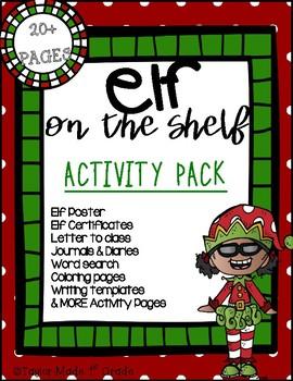 Elf on the Shelf JOURNAL, DIARY, & ACTIVITY BUDNLE