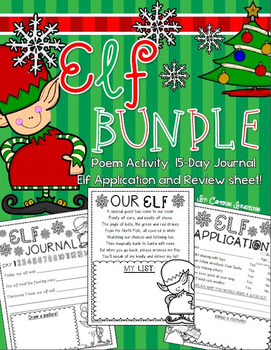 Elf Journal Writing Activity Bundle