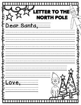 Elf on the Shelf Work on Writing