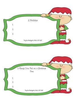 Elf-tastic Categories!