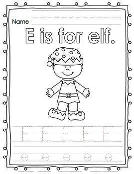 Christmas Reading, Writing, & Math Activities:  Elf-tastic Fun! for PreK or K