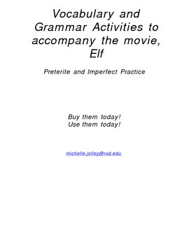 Elf video activity - Spanish - Preterite and Imperfect-Ready to use!