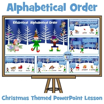 Elfabetical Order ( oops sorry - Alphabetical Order!) PowerPoint Lesson