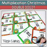 Christmas Double Digit Multiplication Task Cards