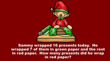 Elfin' In Santa's Workshop With Addition and Subtraction - PowerPoint Game