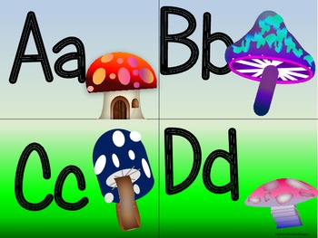 Elfin Toadstool Alphabet (Word Wall Tags)