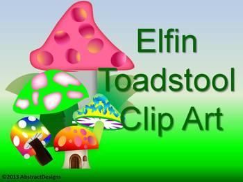 Elfin Toadstool CLIP ART