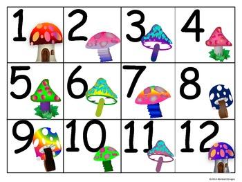 Elfin Toadstool Numbers (100's Chart and Calendar)