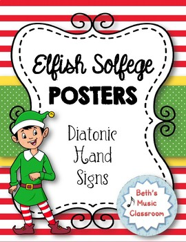 Elfish Solfege Posters (Curwen Hand Signs)