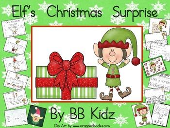 Elf's Surprise - Emergent Reader / Christmas Activities &  Elf Craft