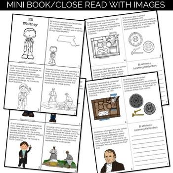 Eli Whitney Reading Passage and Activities