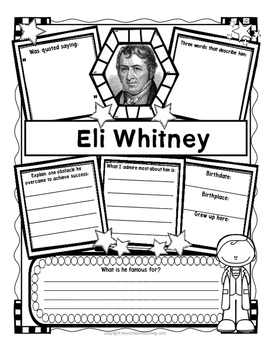 Eli Whitney Organizers for Research Projects