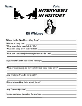 Eli Whitney Research and interview Assignment