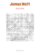 James Watt Word Search Puzzle