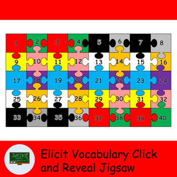 Elicit Vocabulary Click and Reveal Jigsaw