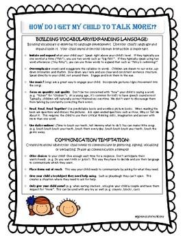 Parent Handout: Eliciting Language at Home