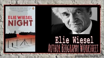 Elie Wiesel: Author Biography Assignment