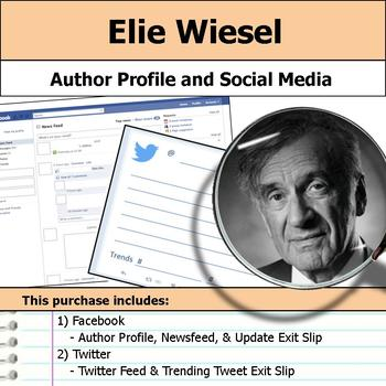 Elie Wiesel - Author Study - Profile and Social Media