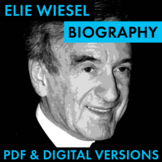 Elie Wiesel Biography Research Organizer, Holocaust, Autho