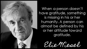 Elie Wiesel Classroom Posters: Inspirational Quotes