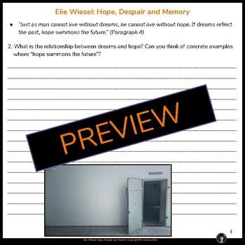 Elie Wiesel: Hope, Despair and Memory