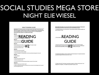 Elie Wiesel Night Reading Guides