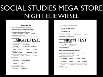 Elie Wiesel Night Test