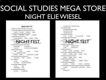 Elie Wiesel Night Test