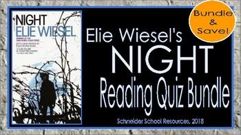 Elie Wiesel's Night: Complete Quiz Bundle